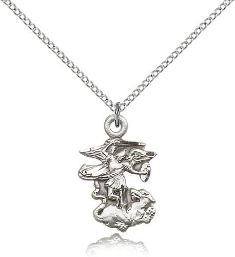 Saint michael the archangel medal for women 925 sterling silver saint michael the archangel medal for women 925 sterling silver necklace o aloadofball Gallery