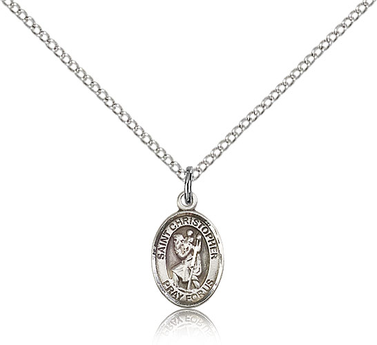 Sterling Silver 925 St Jewels Obsession St Christopher Pendant Christopher Pendant 25 mm
