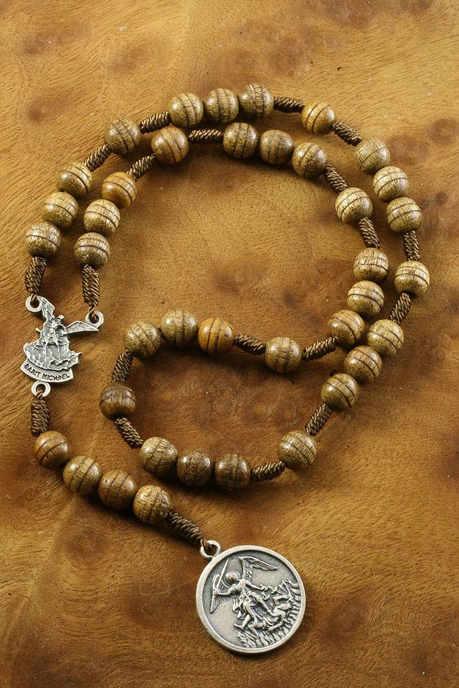 Rosary chaplet corded brown beads catholic 11 brazil 30 day returns